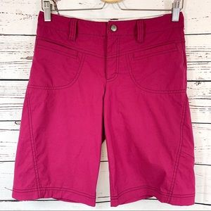 Athleta Dipper Bermuda Burgundy Outdoor Shorts